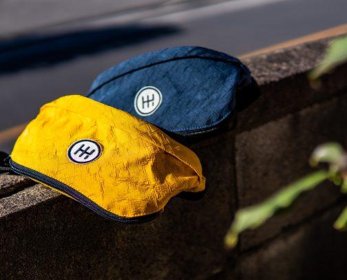 ヒップバッグ黄色青